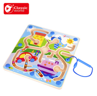 Classic World Traffic Magnetic Navigation Puzzle Educational Navigator Brain Teaser Jigsaw Wooden Toys Early Educational Toys