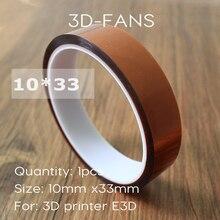 1 шт. 10 мм x 33 м температуроустойчивой лента тепла посвящена лента тепло лента для быстрое принтер производитель / Reprap лента