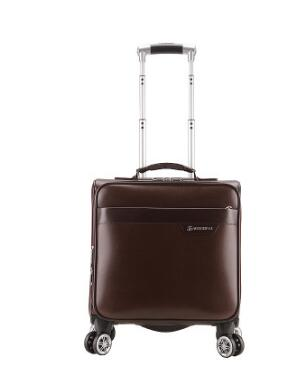 17PU Leather Women Travel Luggage Bag Men Trolley Bag Wheeled Spinner Trolley Suitcase Men rolling luggage suitcase on wheels
