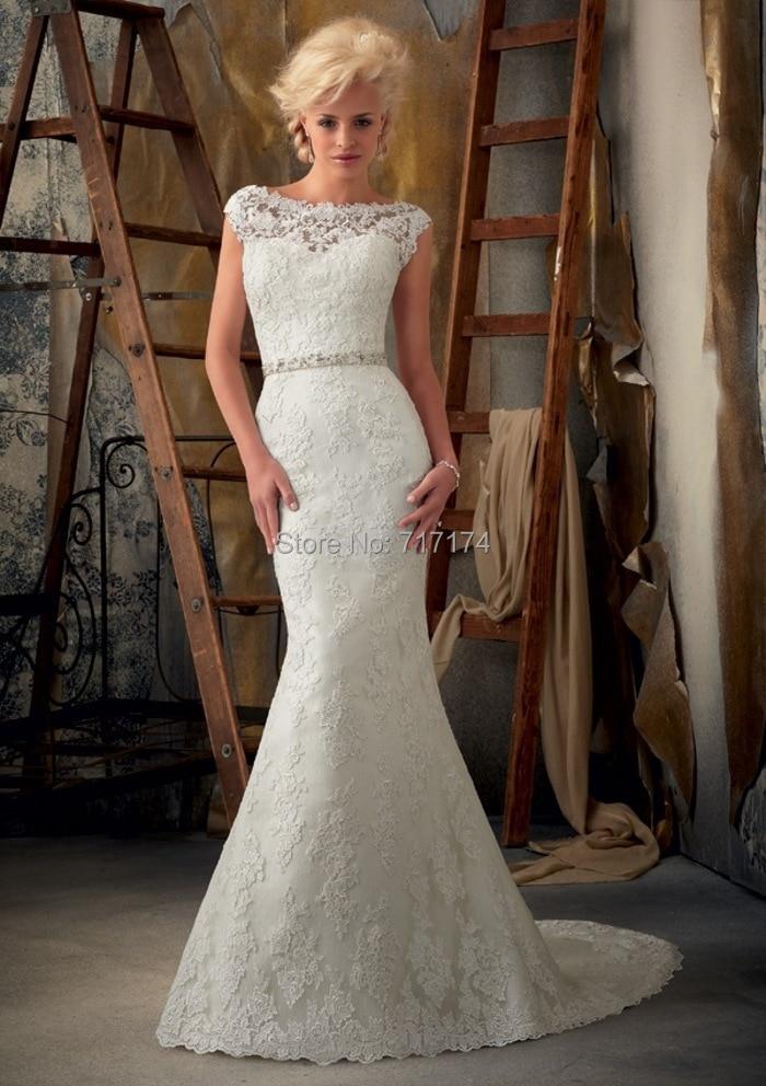Exquisite Sheath Column V Neck Applique Chapel Train Satin Wedding Dresses Hand Beading Open Back Bridal Dress Marry Gowns