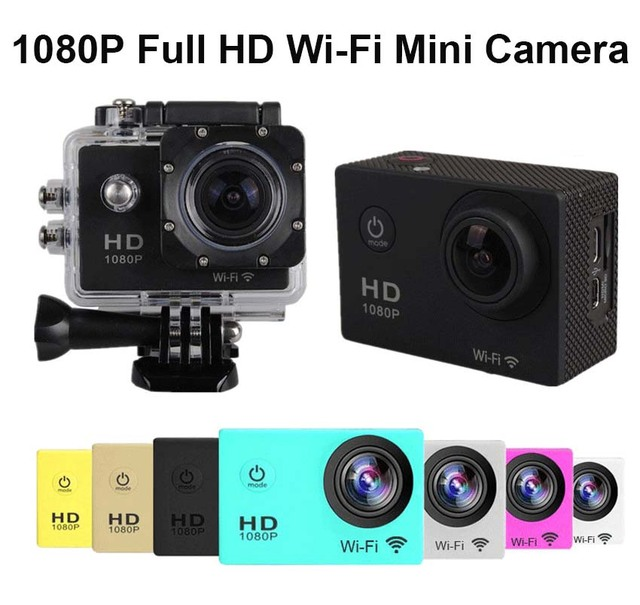 With 1pcs Monopod 1080P Wifi Sport Action Cameras Go Waterproof Pro Style Mini Cameras Sports DV Action Video Mini Camcorders