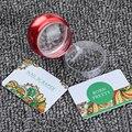3 Pçs/set Limpar Jelly Silicone Cabeça Nail Art Batedor Batedor De Metal Vermelho com Cap & 2 Raspador
