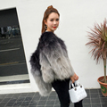 2016 winter women fox fur coat