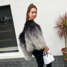 2016 winter women fox fur coat