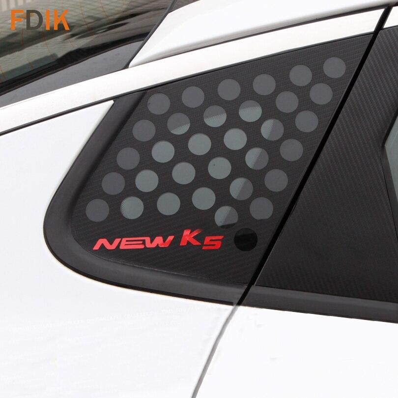 Sport Black Carbon Fiber C Pillar Plate Hole Mask Sticker Decal Vinyl For Kia K5 Optima 2011 2012 2013 2014 2015 2016 2017