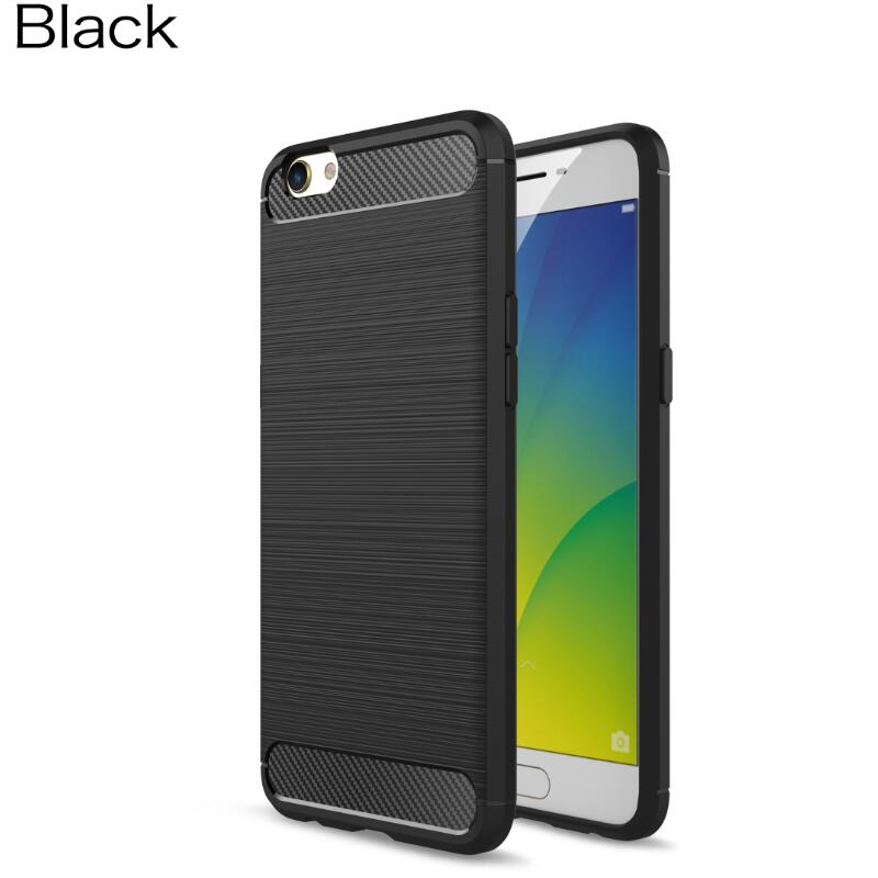 For oppo r9s plus case funda slim Hybrid Super armor Carbon Fiber Texture Brushed Soft Silicone Cover r9s phone case ( XX89 )