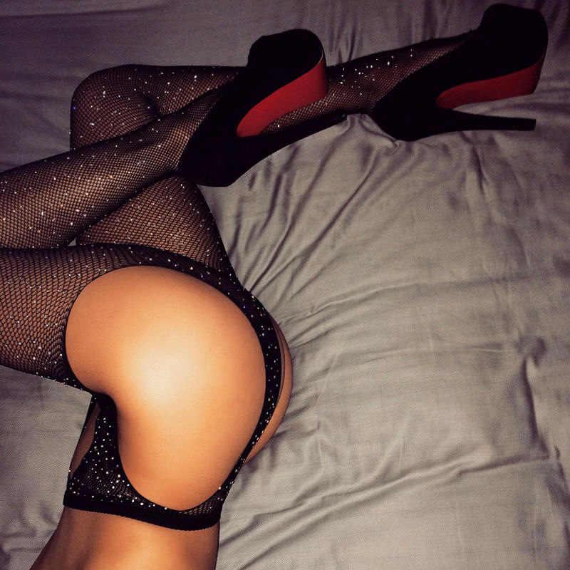 Экзотическая одежда носки чулочно-носочные изделия сексуальное женское белье Горячая колготки в сеточку алмазные украшения открытый промежность колготки Эротическое белье шланг