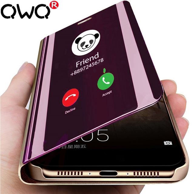 De lujo de la caja del teléfono espejo para Huawei P20 P30 amigo 20 Lite Pro 20X P Smart Flip cubierta protectora para honor 10 gorra con soporte 9 lite