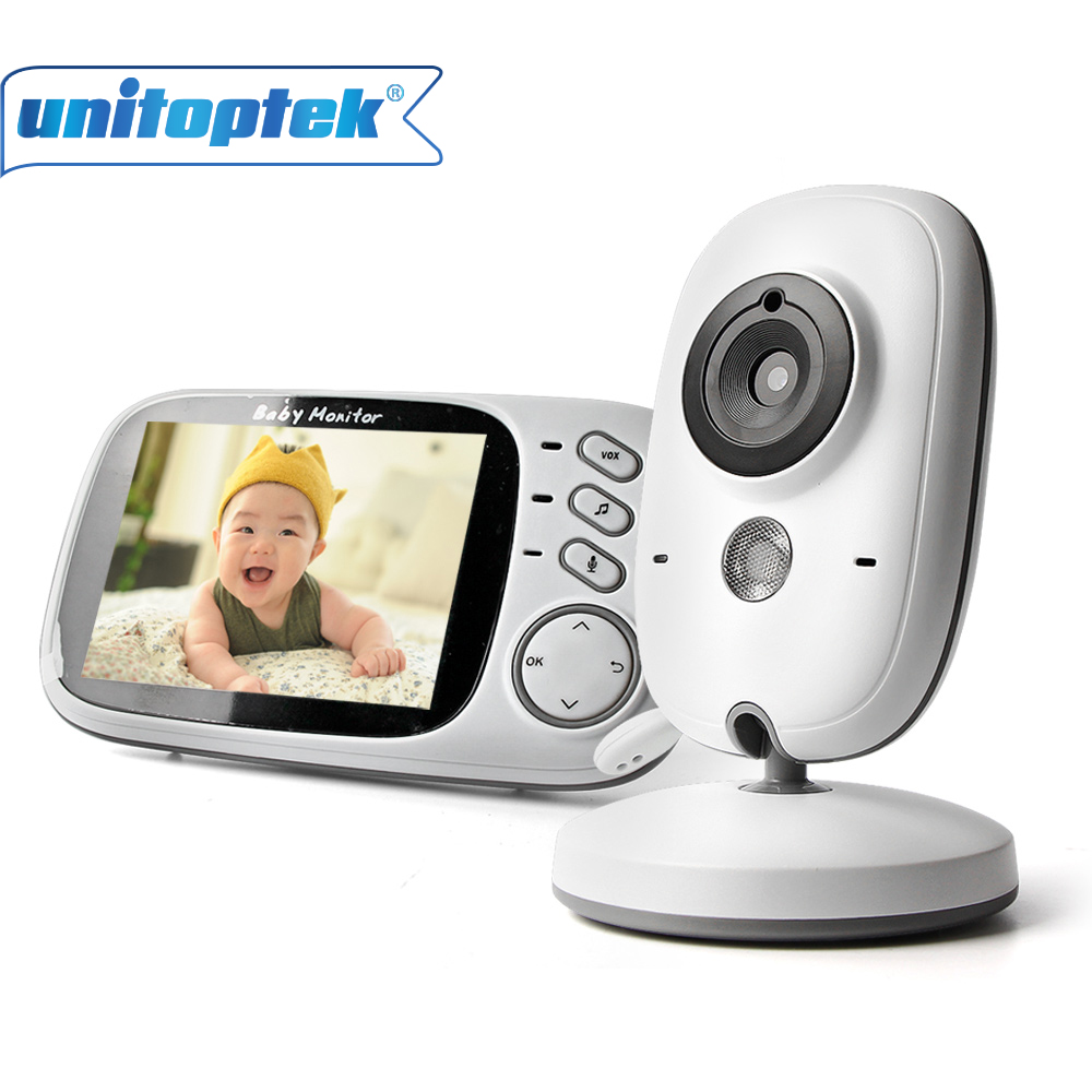 3.2 Inch 2.4GHz Wireless Video Color Baby Monitor High Resolution Night Vision Baby Nanny Bebek Camera Temperature Monitoring wireless 2 4 lcd color baby monitor high resolution lullabies kid nanny radio babysitter night vision remote camera newborn gift