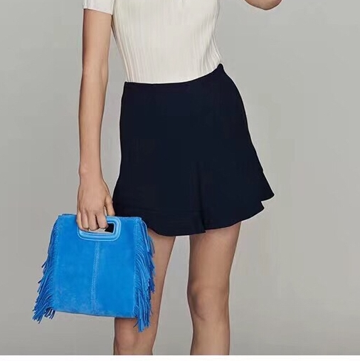 2019 spring new arrival high waist ruffles women casual shorts skirts