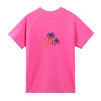 Купальный костюм BAOHULU для девочек, UPF 50 +, с защитой от солнца, с коротким рукавом, Рашгард, купальный костюм для девочек с елкой от солнца