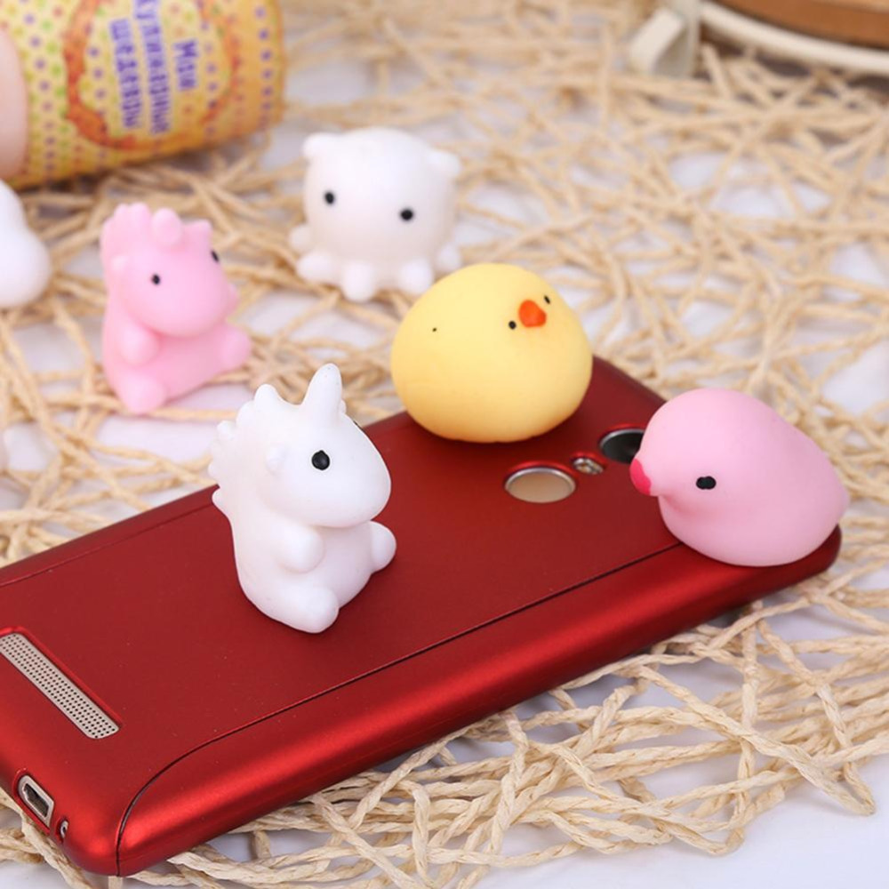 Squishy Animals For Phone : 10 Pcs/Pack Novelty Mochi Squishy Phone Strap Squishies Animal Cat Slow Rising Squeeze Healing ...