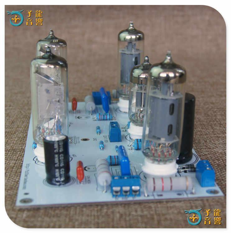 6N2/6N1 6P1 3 W * 2 סטריאו כוח מגבר סיים לוח מכיל אלקטרוני צינור מגבר לוח עם 6E2 אינדיקציה רמה