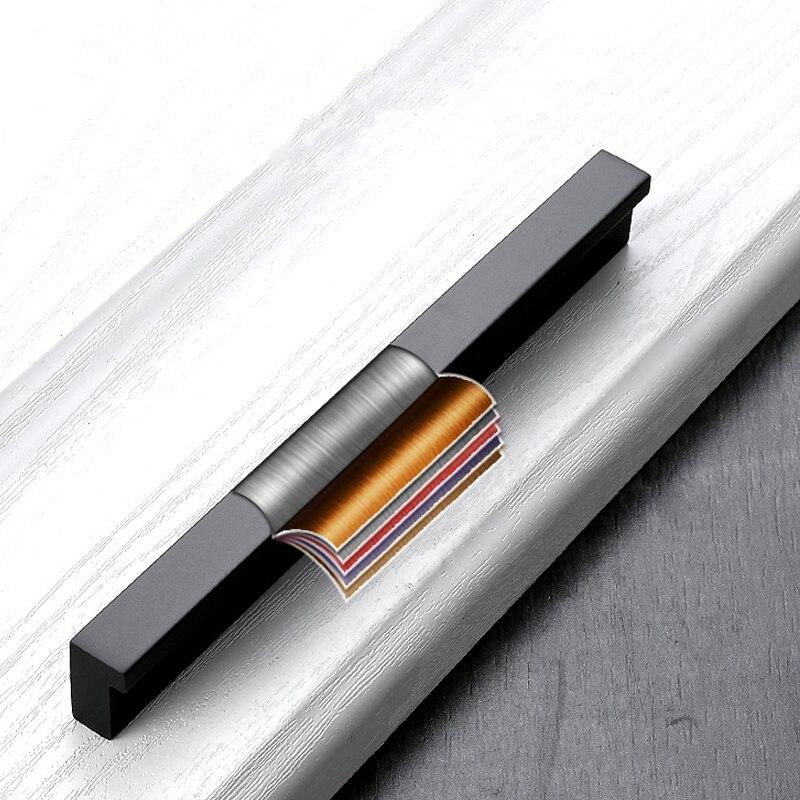 Купить с кэшбэком AOBITE Black Long 1200mm Cabinet Handles Drawer Bedroom Pull Knobs Aluminum Door Handle Vintage Furniture Hardware Decorative