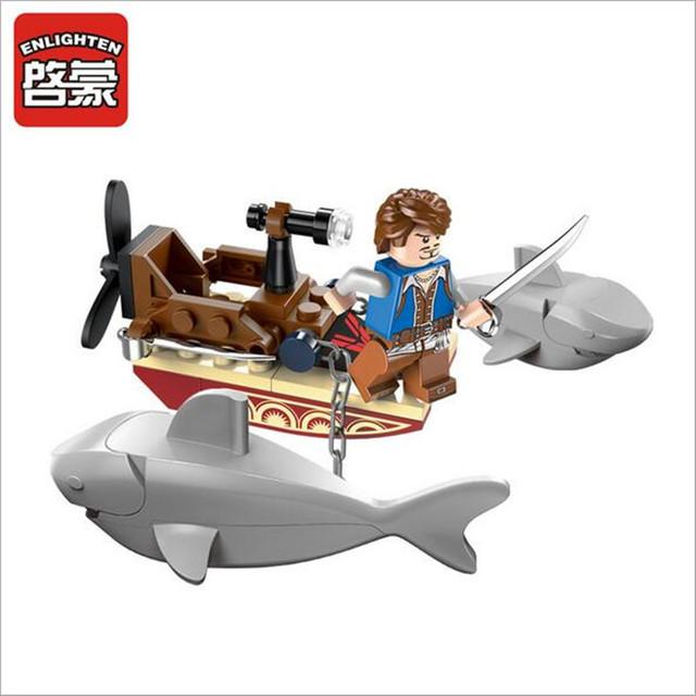 45pcs/set Sharks Contingent Construction Bricks