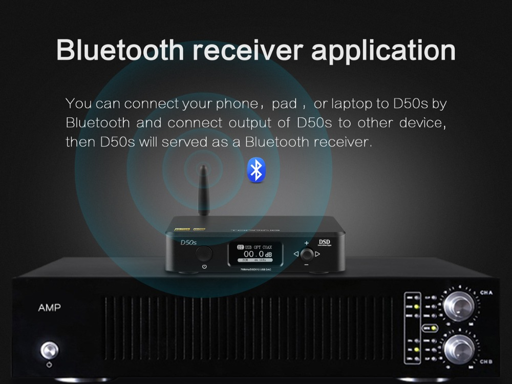 TOPPING D50S Bluetooth 5.0 ES9038Q2M AUDIO Decoding USB DAC-14