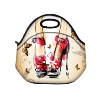 Butterfly thermo thermal bag Insulated Cooler Bag thicker kids neoprene lunch bag boxes Outdoor Food Container mother baby bag