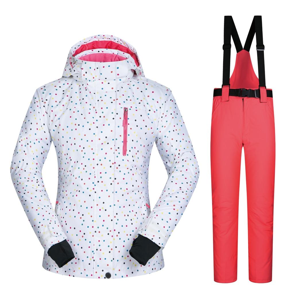 Snowboard costumes femmes vêtements veste de Ski et pantalon neige ensembles BDD extérieur coupe-vent imperméable vêtements hiver Ski costume marques - 4