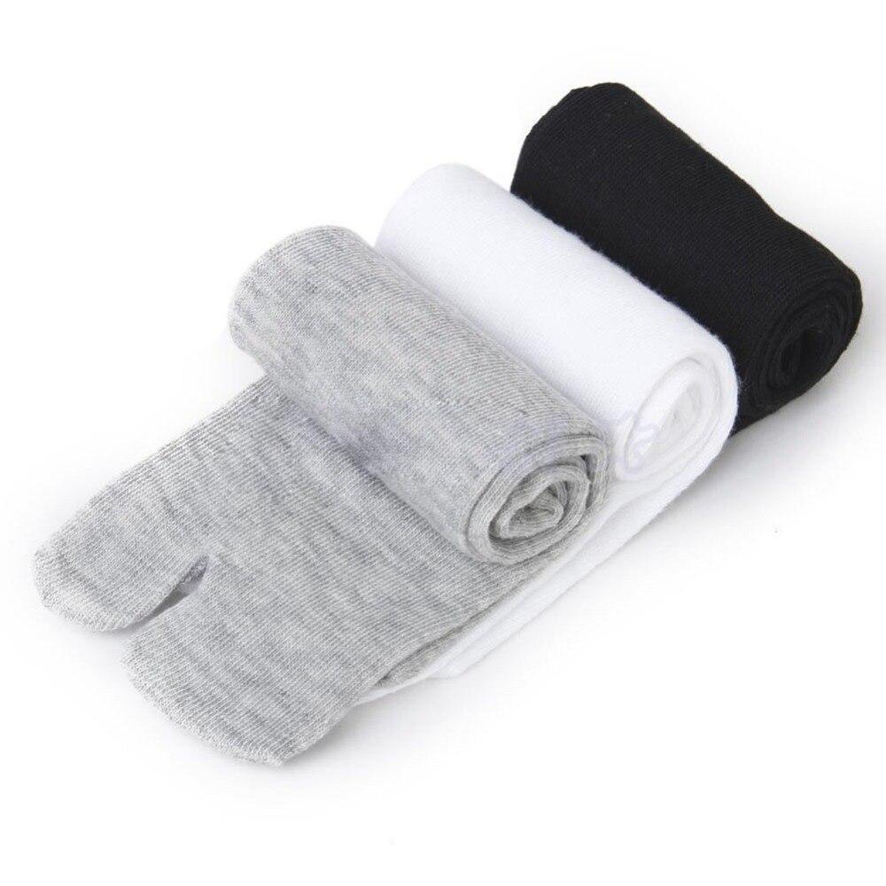 Herrensocken 3 Paare/los Footful Männer Frauen Tabi Socken Split Zwei Kappe Japanischen Kimono Geta Flip Flop
