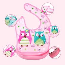 Waterproof Cartoon Baby Silicone Bibs