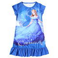 2017 Anna & elsa Vestido de Ropa Cosplay Niños Baby Girls Elsa Dress Kids Princess Party Girls Vestidos Camisón de la Ropa de la Historieta