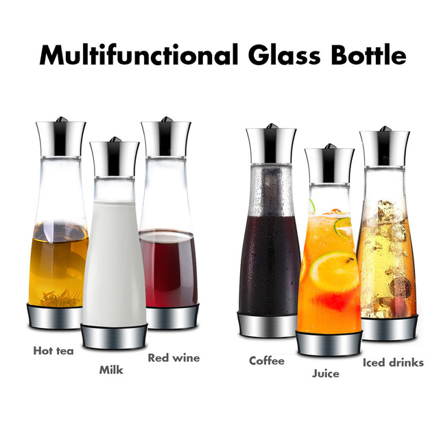 Coffee Maker Pot Mocha Cold Brew Cafetera Filter Coffee Pot Leakproof Thick Glass Tea Infuser Percolator Tool Espresso Maker 4