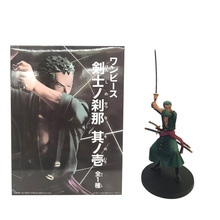 24 cm Hot Toy Anime One Piece Roronoa Zoro PVC Action Figure Doll Battle ver CartoonModel Toy Children Christmas Gift Figuarts 100% original bandai tamashii nations s h figuarts shf action figure battle droid geonosis color from sw