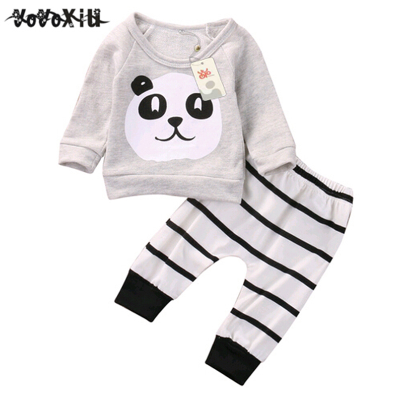 Search For Flights Lcll-yoyoxiu Baby Clothing Sets Kids Newborn Baby Boys Girls Long Sleeve Panda T-shirt +striped Pants Infant Clothes Outfits S Without Return