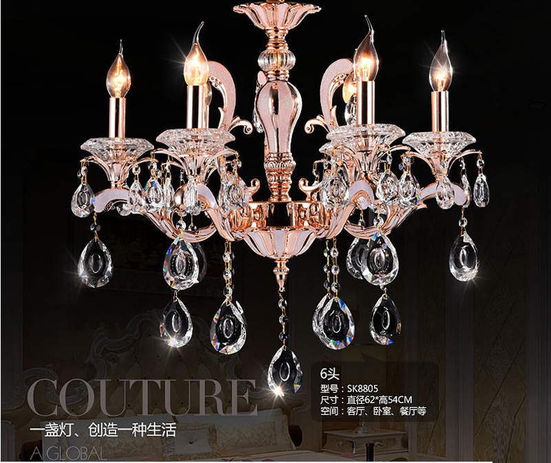 modern crystal chandelier candle holder chandelier for foyer rose