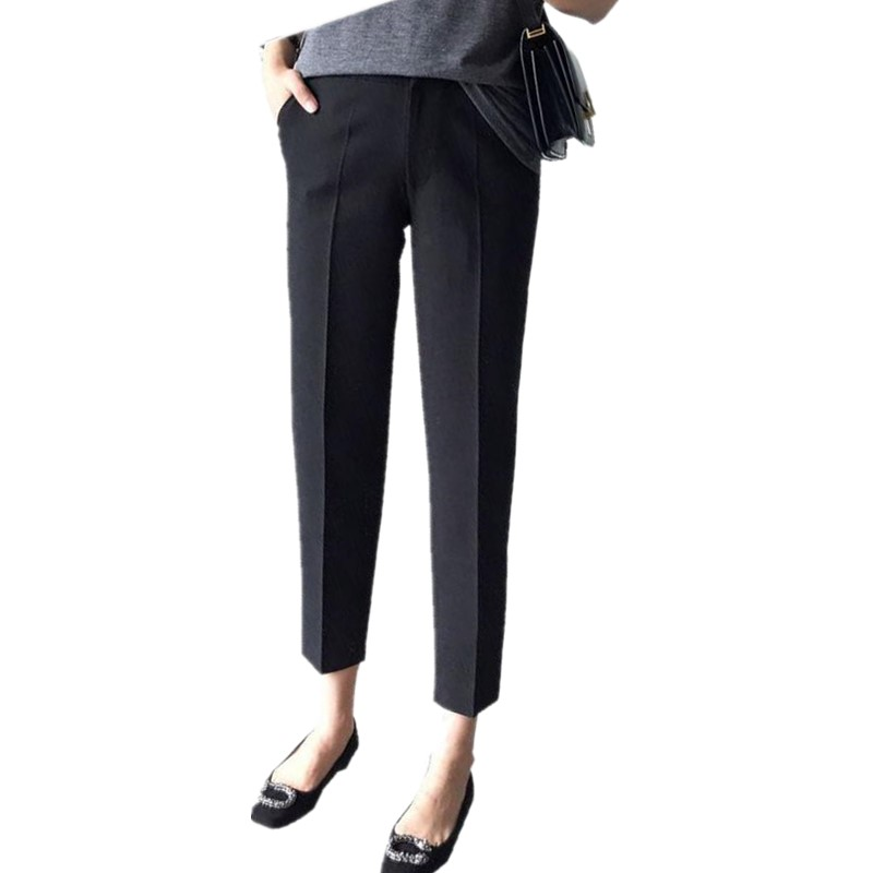 2017 Women Autumn   Pants     Capris   Female Ankle Length Trousers High Waist Straight   Pants   Casual   Pants   Women