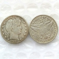 90 Silver 1903 Barber Quarter Dollars Retail Wholesale USA Copy Coins
