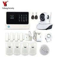 Yobangsecurity WI FI GSM сигнализация Беспроводной автодозвон дома Охранной Сигнализации Системы приложение утечки газа Сенсор IP Камера 433 мГц дым Се
