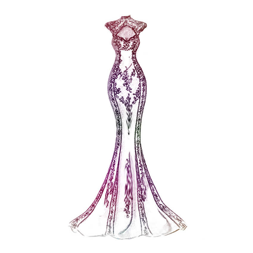 PANFELOU Lente godin jurk trouwjurk metalen ambachtelijke papier stansen sterft Scrapbooking/DIY Embossing Valentijnsdag kaarten