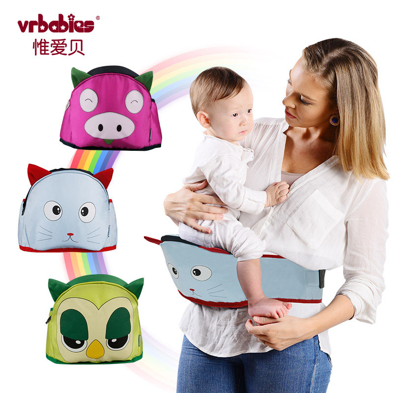 Vrbabies Love Baby Hipseat Multifunctional Baby Carrier Four Position 360 Infant Design Unique Animal Baby Holder