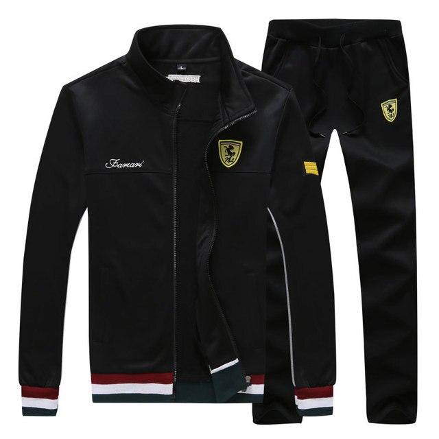 Long Sleeve Stand Collar Sweatshirt Sports Set  2