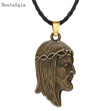 Nostalgia Jesus Necklace Religious Jesus Piece Head Blessed Christian Jewelry For Mens Womens Gifts(China)