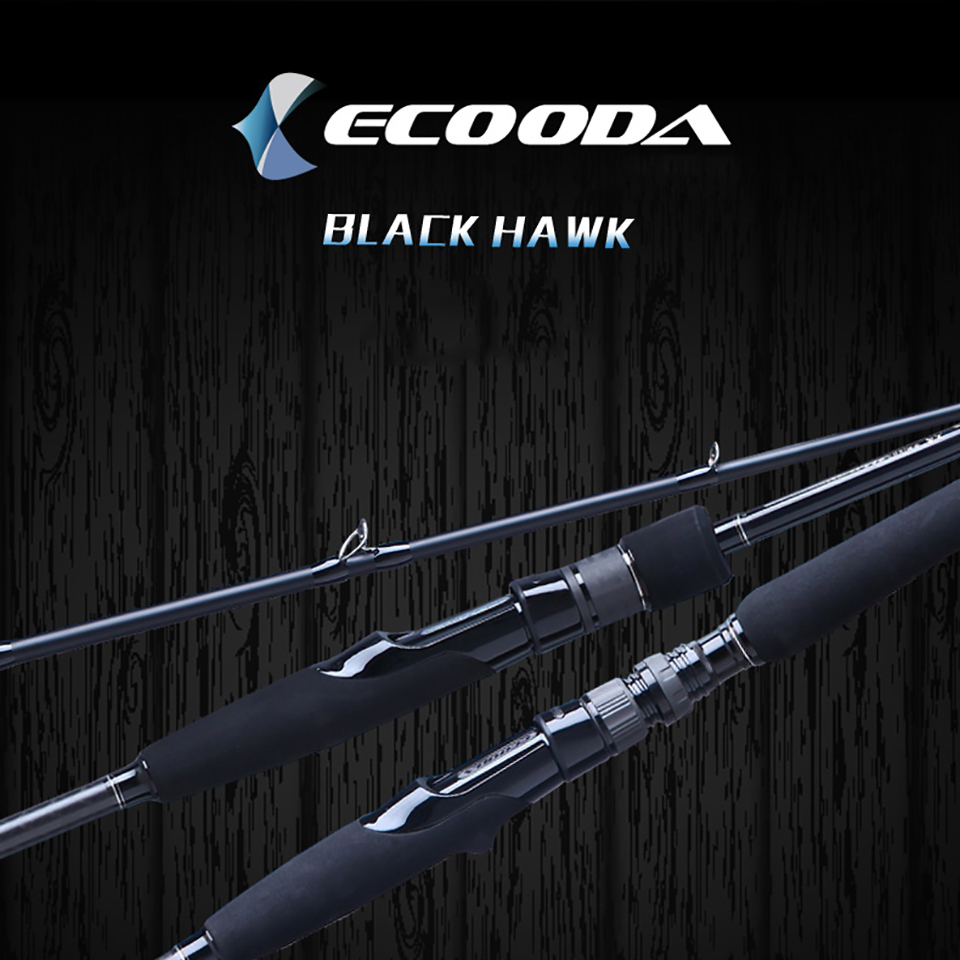 Ecooda Carbon Spinning Fishing Rod Fast Action Fishing Spinning Rod Inshore & Out Shore Lure Fishing Rods ecooda spinning casting fishing rod 50 200g lure weight portable super light carbon fiber fishing rod