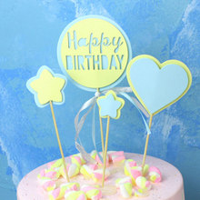4pcs/lot Happy birthday cake topper cup decoration baby shower kids party wedding favor supplies