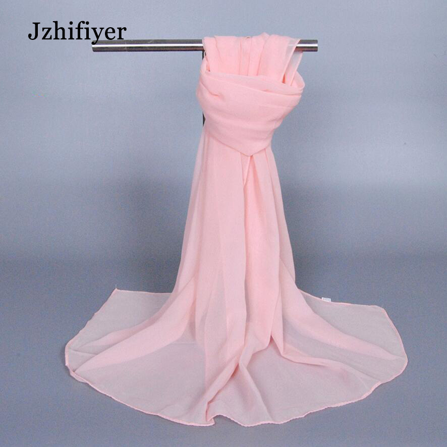 solid plain scarf muslim shawl 160 50CM chiffon soft material muslim scarf hijabs headwear fashion head cover femme in Women 39 s Scarves from Apparel Accessories