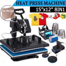 8 In 1 Combo Heat Transfer Machine Sublimation Heat Press Machine for Plate Mug Cap T