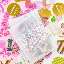 100 pcs/bag Fantasy hot stamping series sticker decoration DIY ablum diary scrapbooking label stationery