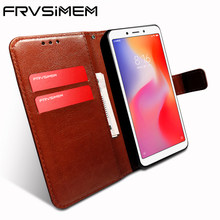 Frvsimem for XiaoMi RedMi 6 6A 5.45 inch 2gb 3gb 16gb Flip Case Cover Wallet Stand Leather + Soft TPU Cases Cover Capa Funda(China)