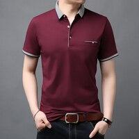 Новинка 2020, модные брендовые летние рубашки поло, мужские рубашки в британском стиле с коротким рукавом, облегающие рубашки высшего класса, ...