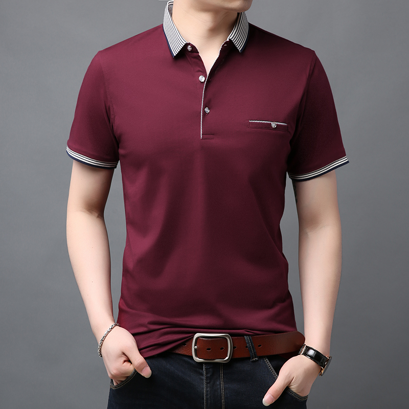 2019 New Fashion Brand Summer Shirts Polo Men's British Style With Short Sleeve Slim Fit Top Grade Poloshirt Casual Clothes