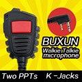 Kmc-x3 mic para kenwood th-f6a walkie talkie microfone/f7a th-k20/40a th-g71 th-d72 baofeng uv82 bf-888s uv5r presunto rádio em dois sentidos
