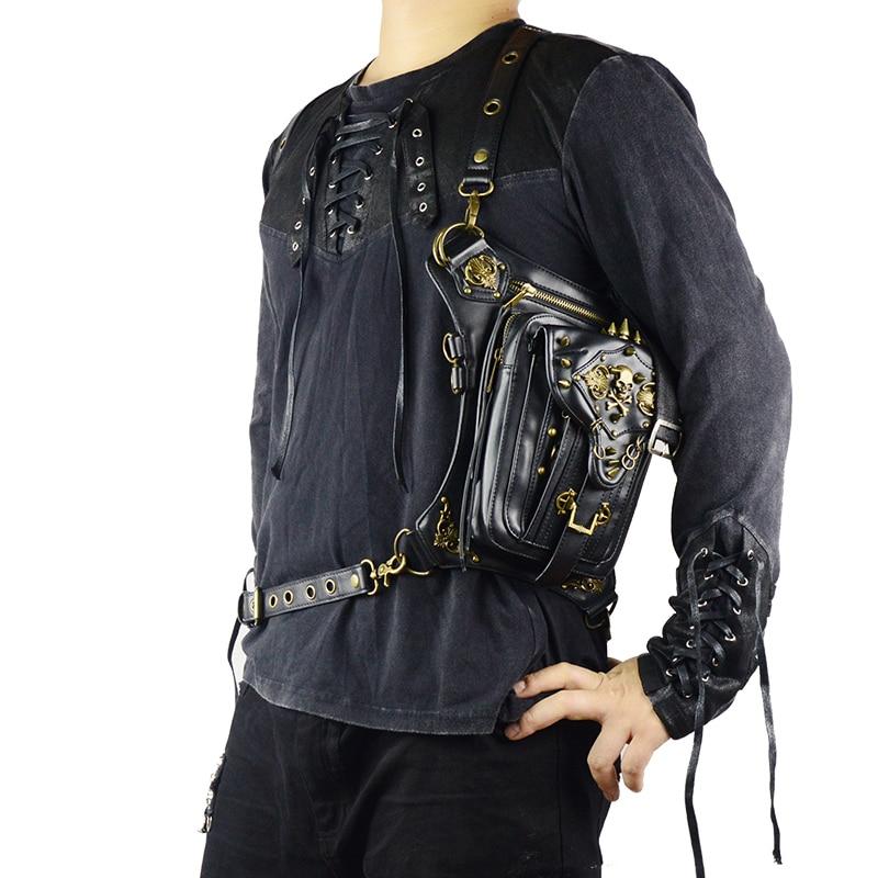 Steampunk Skull Waist Bag Messenger Shoulder Leg Bag Gothic Unisex Female Male Fanny Bag Personality Men Women Crossbody Bags 2