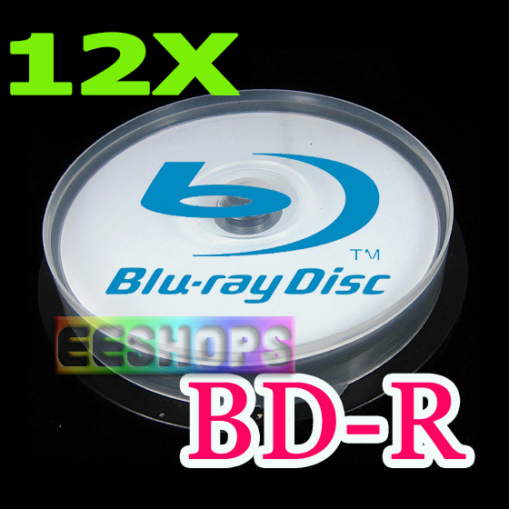 Cheapest Blu-ray Recordable Blank Disc 25GB 6X 12X 3D BD-R DL Printable Rewritable DVD Optical Discs Lot 10pcs Spindle Pack Case