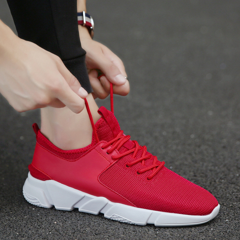 Non gris rouge Noir Mâle Populaire Sneakers slip Respirant Homme Hommes Confortable De Chaussures 2018 Casual Printemps Mode PAZq6