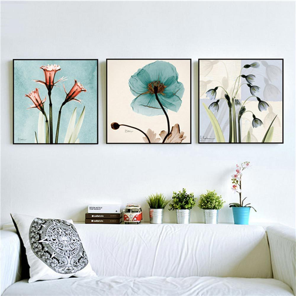 Modern Watercolor Orchid Flower A4 Poster Print Floral ...