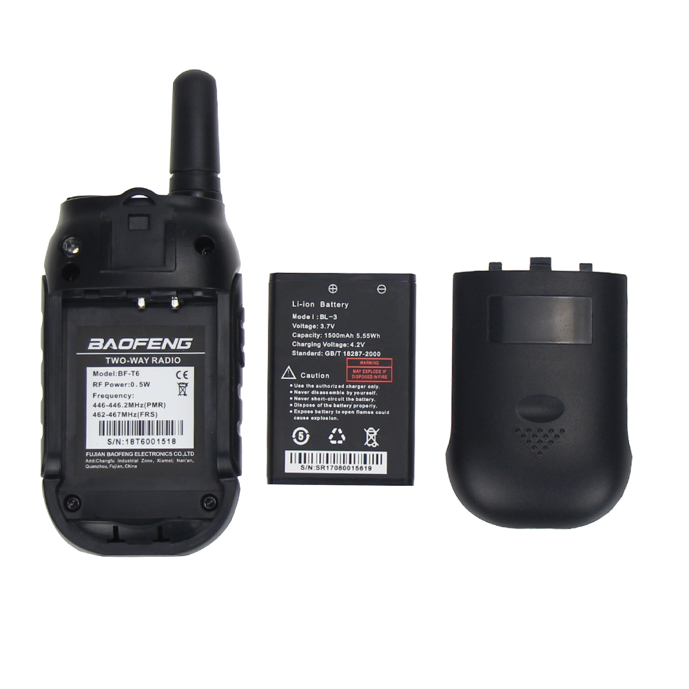 Image 5 - Baofeng BF T6 Kids Walkie Talkie Mini Portable Two Way Radio 0.5W FRS PMR Handheld Interphone Ham Radio Transceiver comunicador-in Walkie Talkie from Cellphones & Telecommunications
